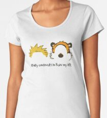 Calvin Hobbes cute Women's Premium T-Shirt