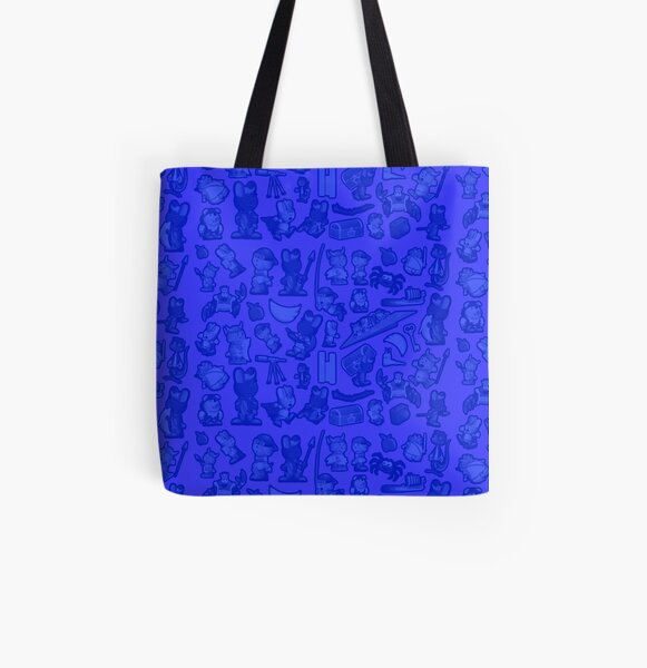 Blue Bunnies All Over Print Tote Bag