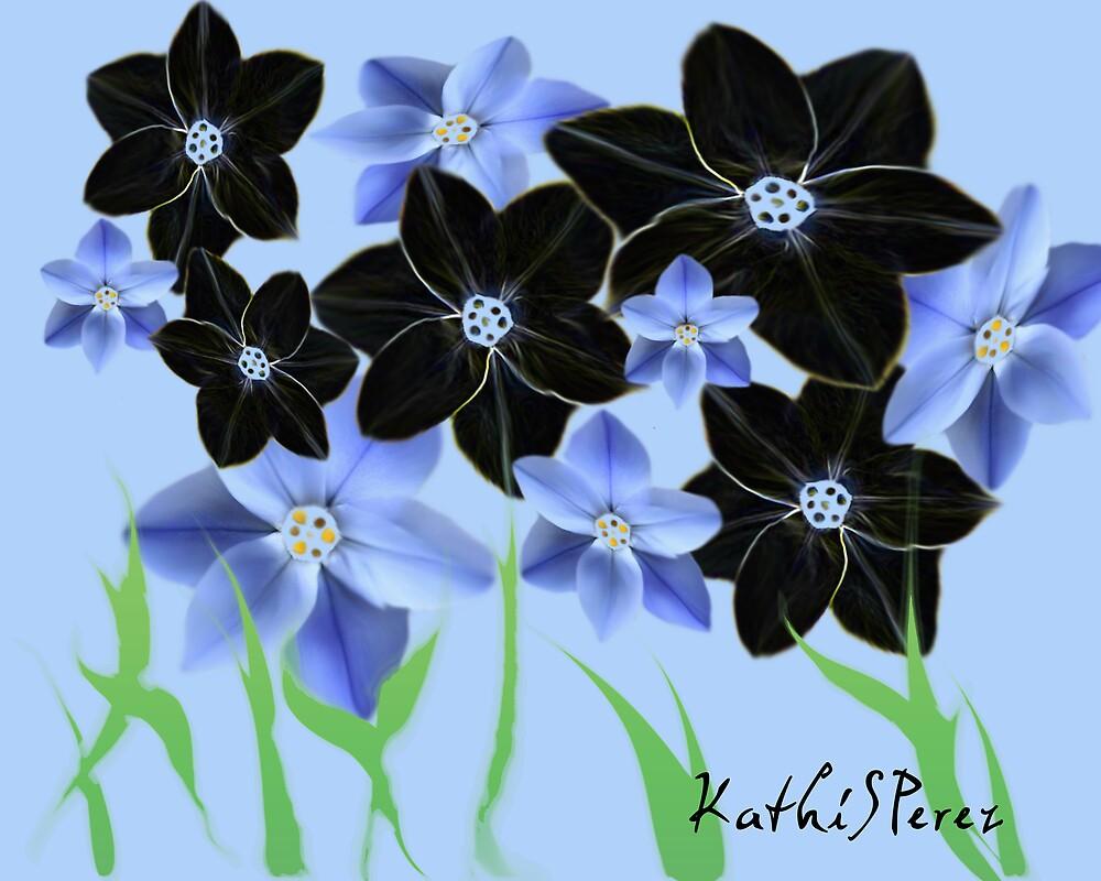 Blue Flower by KathiSPerez