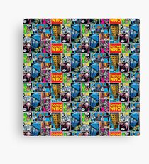 Doctor Who Comic Canvas Print