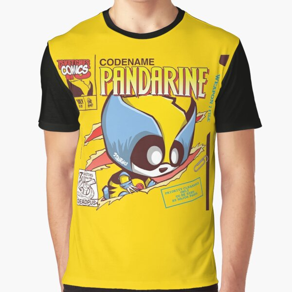 Pandarine Comic Book Cover Graphic T-Shirt