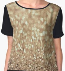 California Gold Glitter Shimmer Chiffon Top