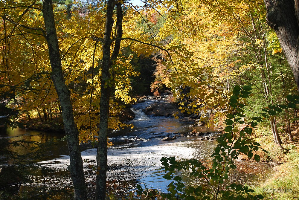 Autumn on Smith River NH by kgsjudkins