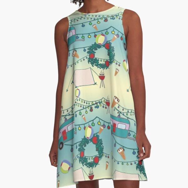 Kiwi Christmas A-Line Dress