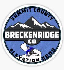Ski Breckenridge Colorado Skiing Snowboard Sticker