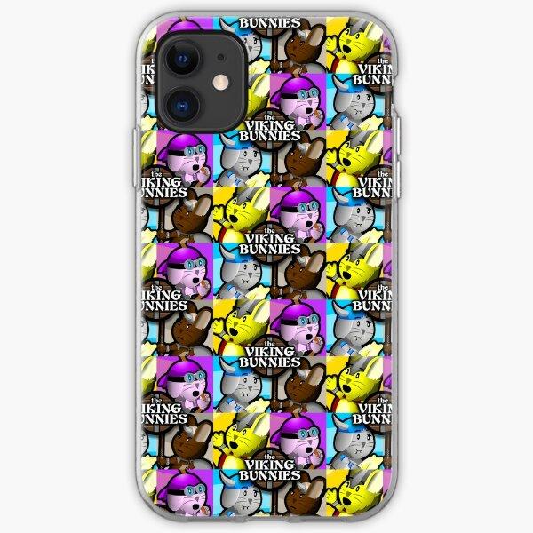 Viking Bunnies Pop Art iPhone Soft Case