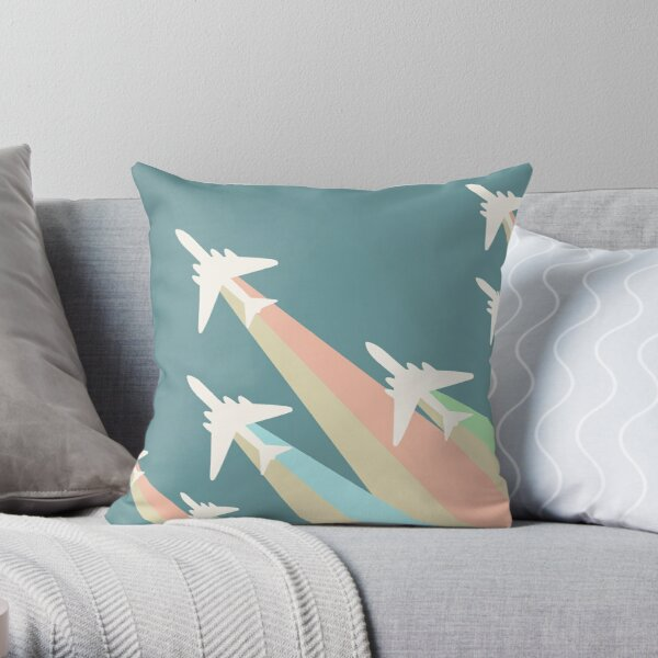 Airplanes Illustration Throw Pillow
