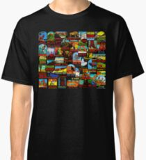 American National Parks Vintage Travel Decal Bomb Classic T-Shirt