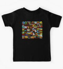 American National Parks Vintage Travel Decal Bomb Kids T-Shirt