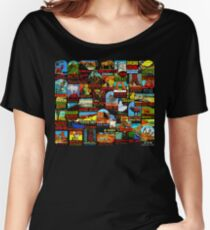 American National Parks Vintage Travel Decal Bomb Women's Relaxed Fit T-Shirt