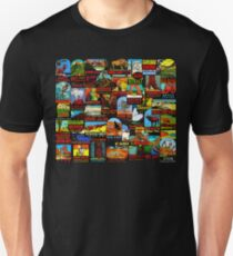 American National Parks Vintage Travel Decal Bomb Unisex T-Shirt
