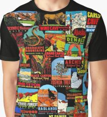 American National Parks Vintage Travel Decal Bomb Graphic T-Shirt