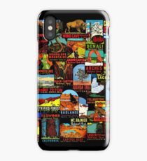 American National Parks Vintage Travel Decal Bomb iPhone Case/Skin