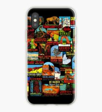 American National Parks Vintage Travel Decal Bomb iPhone Case