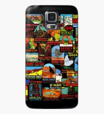 American National Parks Vintage Travel Decal Bomb Case/Skin for Samsung Galaxy