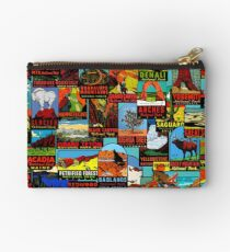 American National Parks Vintage Travel Decal Bomb Studio Pouch