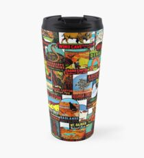 American National Parks Vintage Travel Decal Bomb Travel Mug