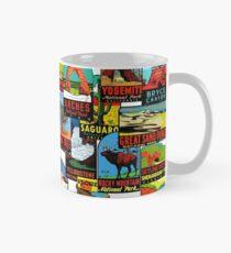Amerikanische Nationalparks Vintage Reise Aufkleber Bombe Tasse (Standard)