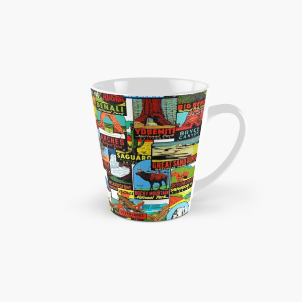 American National Parks Vintage Travel Decal Bomb Tall Mug