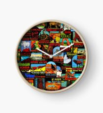 American National Parks Vintage Travel Decal Bomb Clock