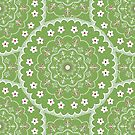 Green Mandala Design by Cristina Bianco Design