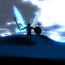 Archangel Michael Our Protector--Blue by m2inspiration