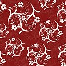 Burgundy Flourish by m2inspiration