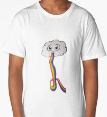 Happy Cloud Puking A Rainbow Long T-Shirt