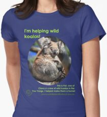 I'm helping wild koalas - Pat Women's Fitted T-Shirt
