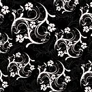 Black and White Flourish by m2inspiration