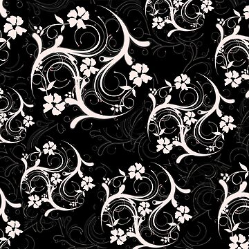 Black and White Flourish by m2inspiration