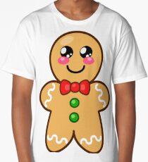 Cute Gingerbread Man  Long T-Shirt