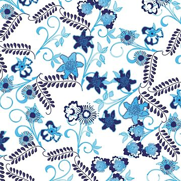Blue Floral Garden by m2inspiration