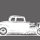 1932 Ford Coupe 1 - White Print by HoskingInd