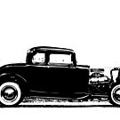 1932 Ford Coupe 1 - Black Print by HoskingInd