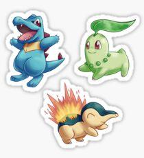 Pokemon Gen II Starter Sticket Set Sticker