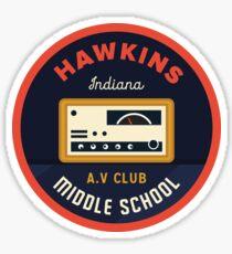 Pegatina Hawkins AV Club