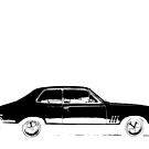 Holden LC GTR Torana - Black Print by HoskingInd