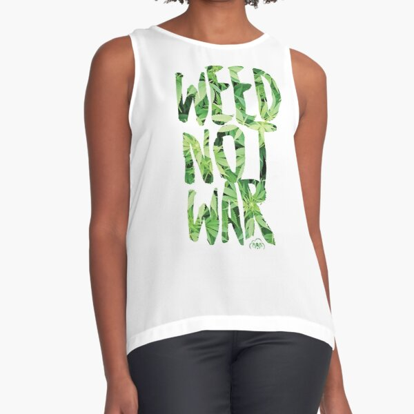 Weed Not War Sleeveless Top