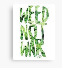 Weed Not War Metal Print