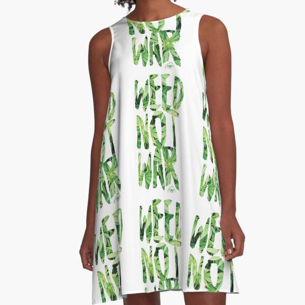Weed Not War A-Line Dress