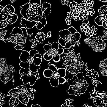 Flowers In White by pamelahoward