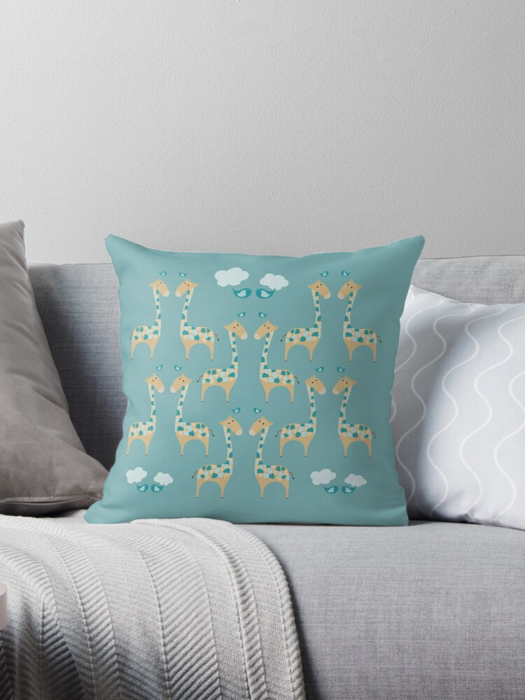Green Giraffes Illustration by Cristina Bianco Design