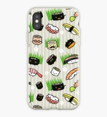 Sushi Characters Pattern iPhone Case