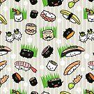 Sushi Characters Pattern by Jenn Inashvili