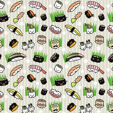 Sushi Characters Pattern by ShortCoffee
