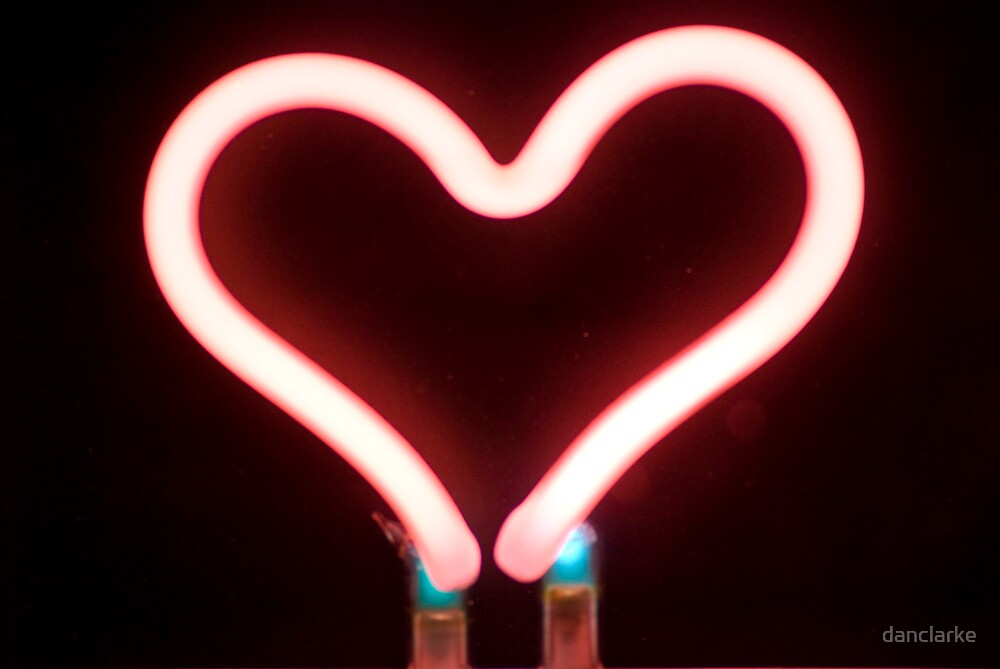 Neon heart by danclarke