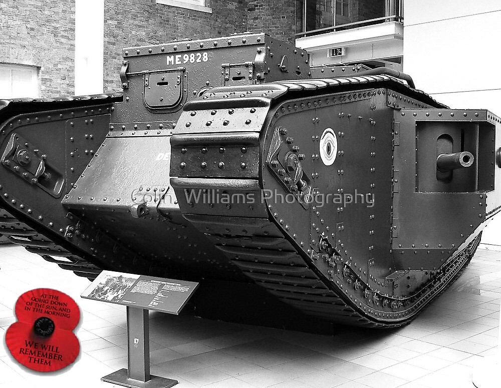 British Mark V Tank, 1918  by Colin  Williams Photography