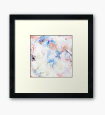 Colorful Water Color Pattern Framed Print