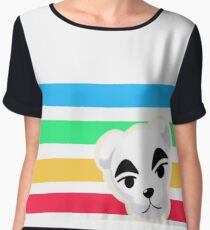 Animal Crossing Rainbow K.K. Slider Chiffon Top